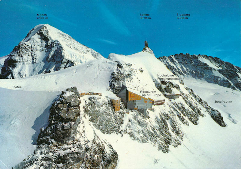 Swiss Post Card - Jungfraujoch (Bernese Alps) Postmarked Dec 23, 1989 To USA