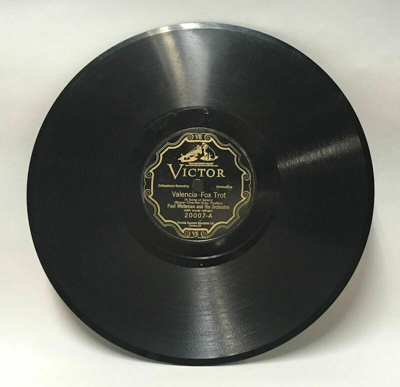 Paul Whiteman Victor 20007 78 RPM Record Valencia - Fox Trot & No More Worryin' - Fox Trot 1926