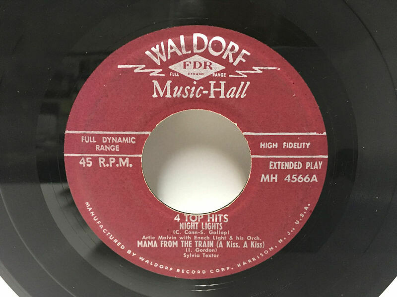 45 R.P.M. - EP Waldorf Music-Hall No. MH 4566 - 4 Top Hits Late1950s