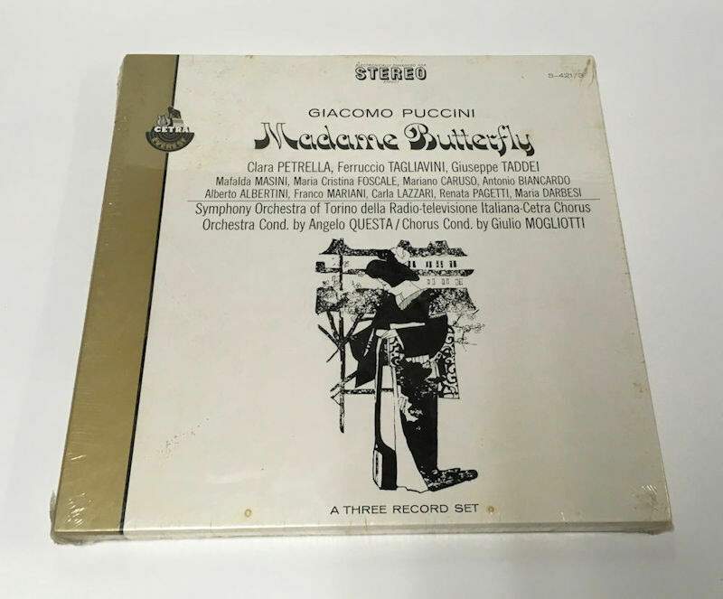 Giacomo Puccini Madame Butterfly - Cetra Everest S-421 Stereo 3 LP Box Set Sealed