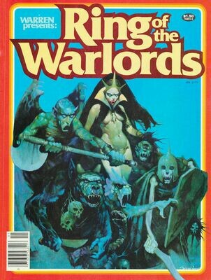 #1 Ring Of The Warlords Jan 1979 VF/NM - Warren Presents Magazine