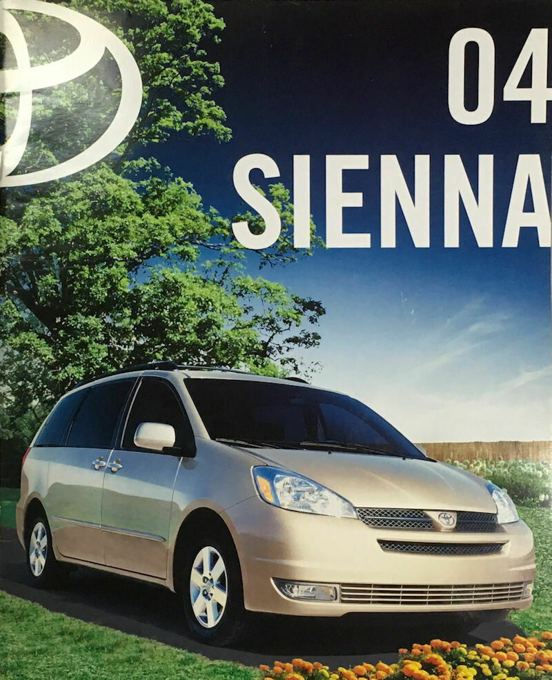 2004 Toyota Sienna Sales Brochure – Very Fine