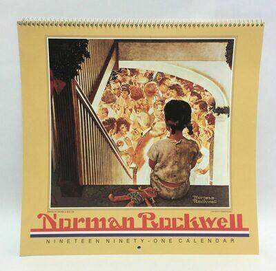 Norman Rockwell 1991 Wall Calendar