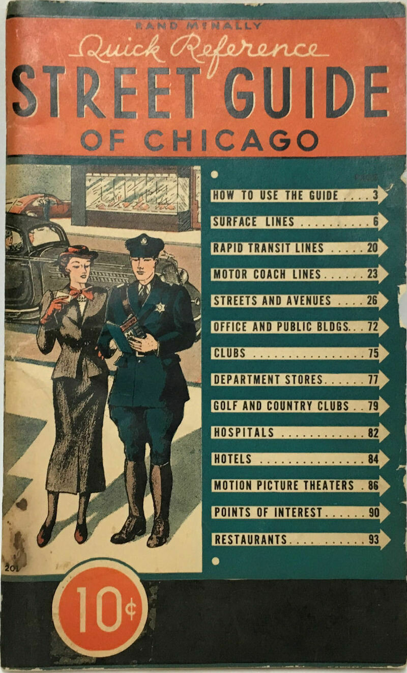 Rand McNally Quick Reference Street Guide of Chicago - 1940 Edition