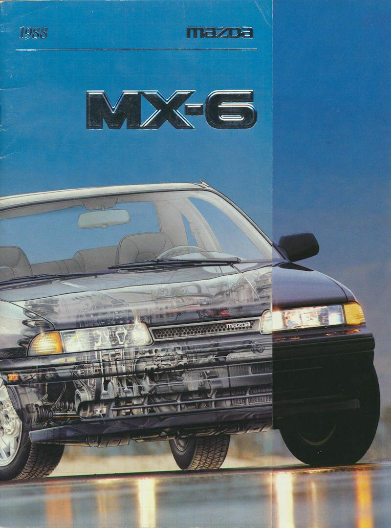1988 Mazda MX6 Original Car Sales Brochure Catalog