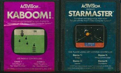 Activision Atari 2600 LOT of 2 Video Cartridges - Starmaster & Kaboom!.