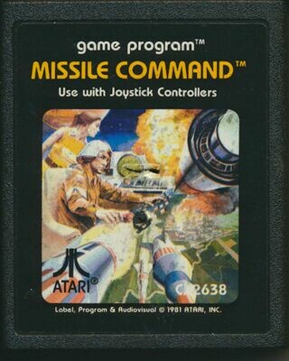 Atari 2600 LOT of 3 Video Cartridges - Missile Command, Breakout, Bowling