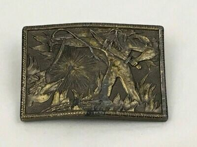 Lord Of The Rings Belt Buckle, Gandalf & Balrog, Lewis Buckle Co. 1975