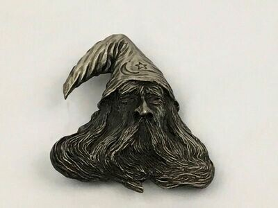 Wizard Pewter Belt 1979 Buckle Bergamot Brassworks N-145