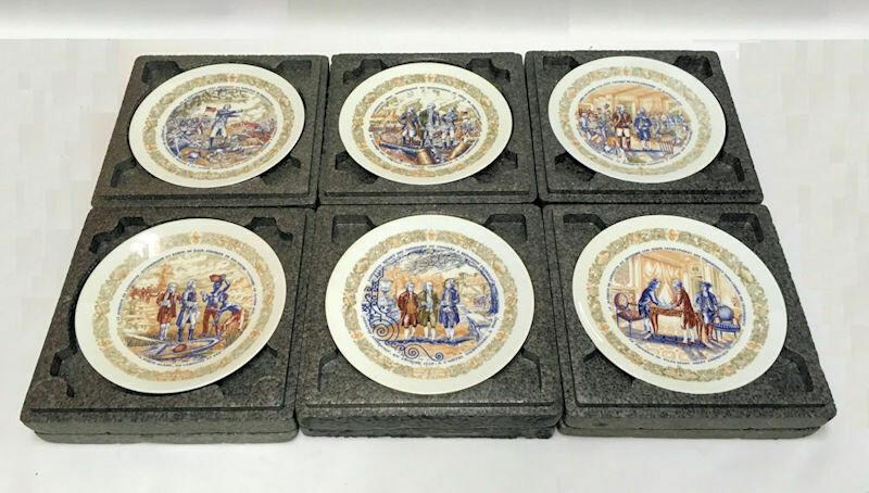 Set of 6 D'Arceau-Limoges collector plates Premier Edition The Lafayette Legacy 1973-1975