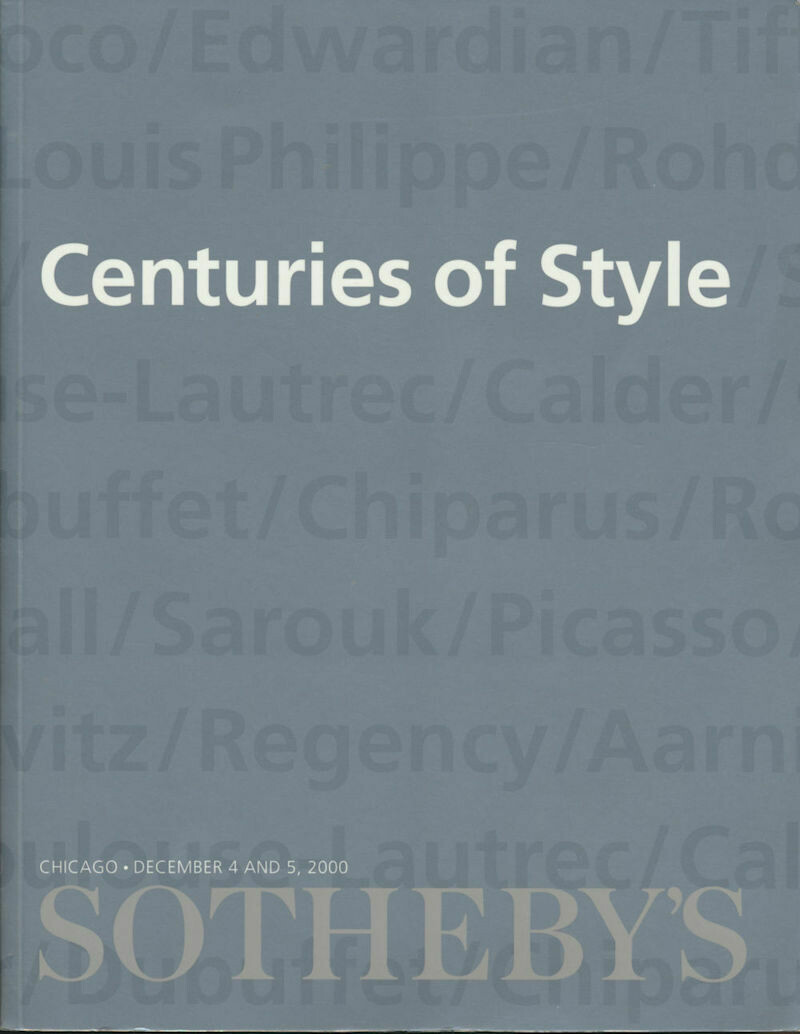 Sotheby's Chicago Centuries of Style December 4 and 5, 2000 Catalog - Soft Cover