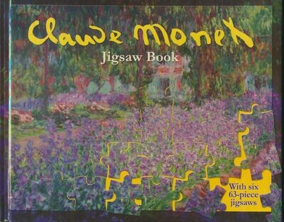 Claude Monet Jigsaw Book w/ 6-63 Piece Puzzles Impressionist Art Paintings 2002