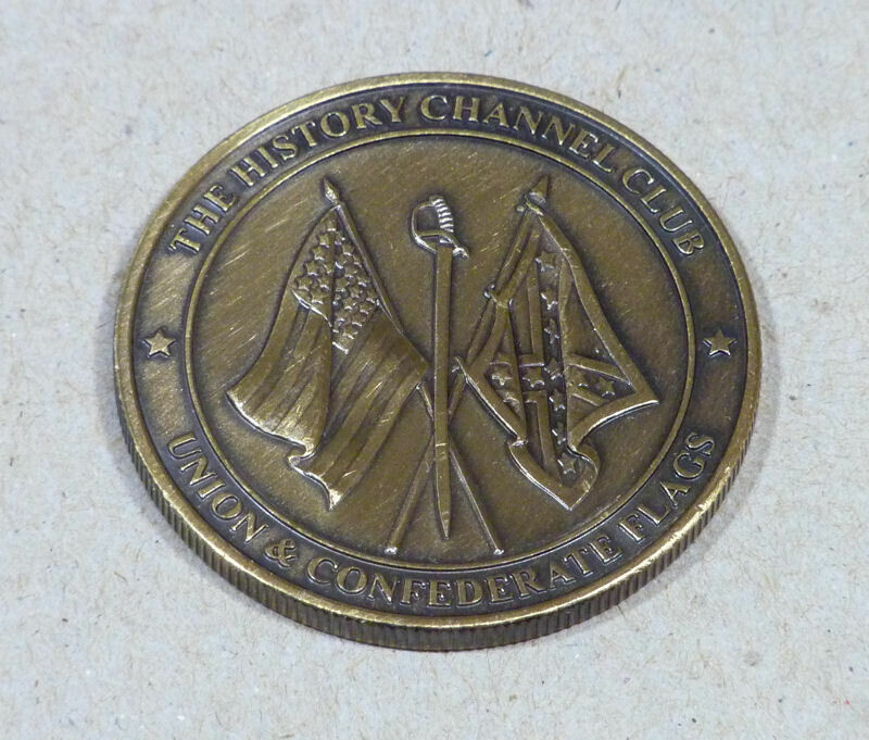 Collector Medallion. Union & Confederate Flags The History Channel Club.