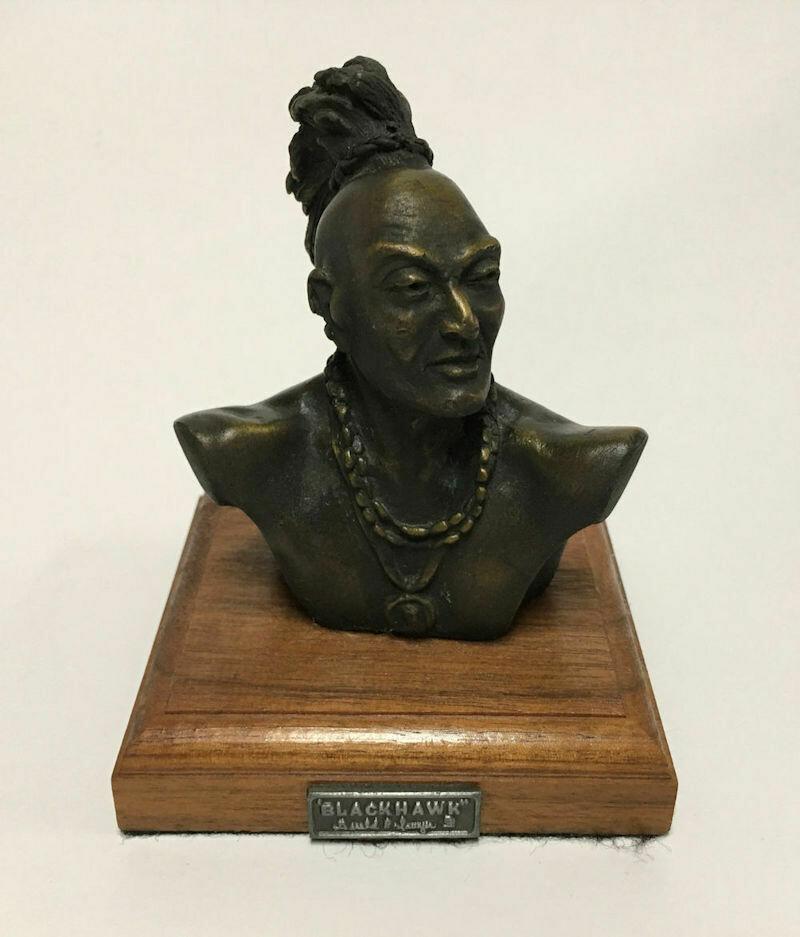 Rare Bronze Blackhawk Indian Bust - Gerald P. Sawyer