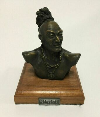 Rare Bronze Blackhawk Indian Bust - Gerald P. Sawyer