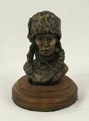 Native American Bronze Indian Bust 'Blood Warrior' #32/35 1976 Nancy Powell McLaughlin