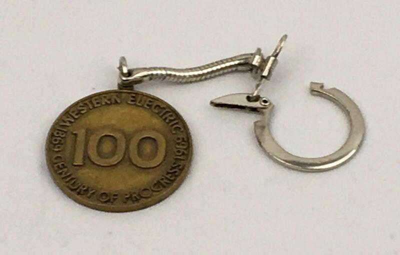 1969 Western Electric Century Progress Metal Medallion Key Ring
