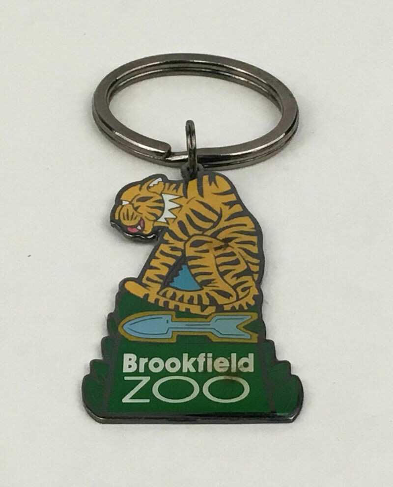 Brookfield Zoo (IL) Tiger Metal Key Ring
