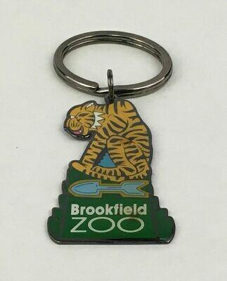 Brookfield Zoo (IL) Tiger Metal Key Ring