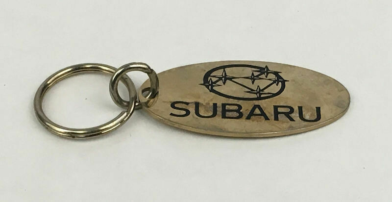 Subaru Solid Brass Oval Key Ring