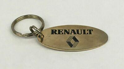 Renault Solid Brass Key Ring