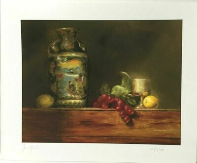 George Ceffalo Limited Edition Giclee Print of a Still Life Oil Painting. 15/500