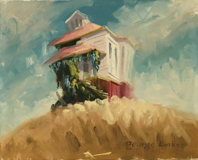 Expressive Landscape Oil Painting by George Allen Durkee (1942-)