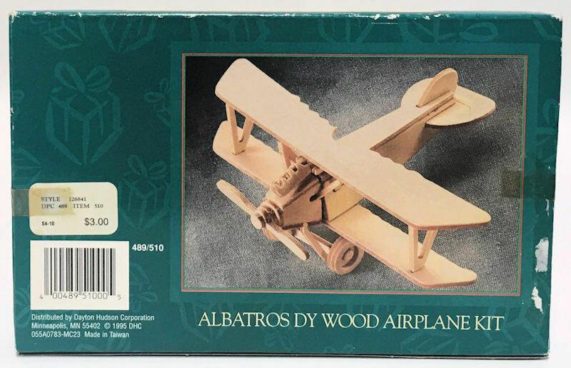 Albatros DY Wood Airplane Kit No. 489/510 Laminated Wood