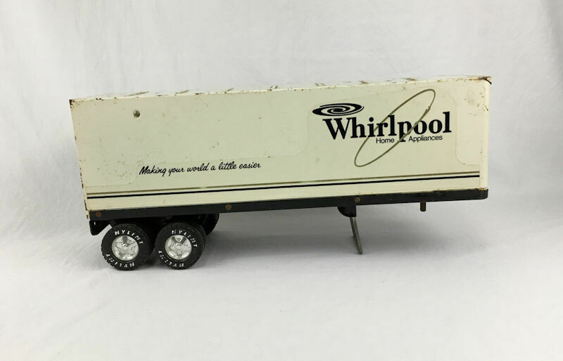 """1970s Nylint Corp Whirlpool Trailer Pressed Steel Toy 15.5""""L"""