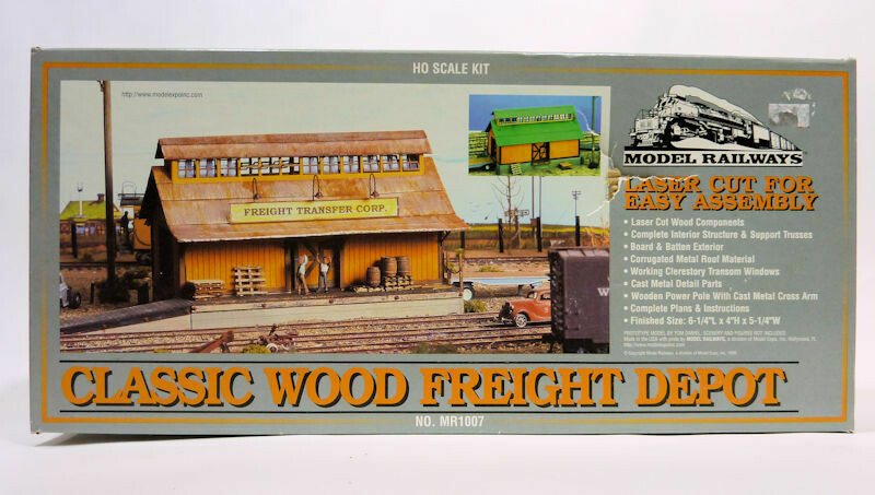 Classic Wood Freight Depot HO Scale Building Kit #MR1007