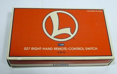 LIONEL O27 Right-Hand Remote Control Switch, 1122R, 6-65122