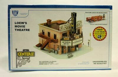HO 1:87 Scale Loew's Movie Theater Kit Lighted - I.H.C. New in Sealed Box No. 4-7799