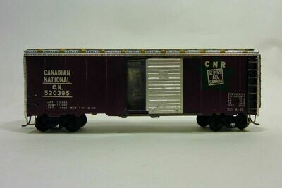 HO Gauge Canadian National 520395 Metal Box Car - With Kadee Couplers