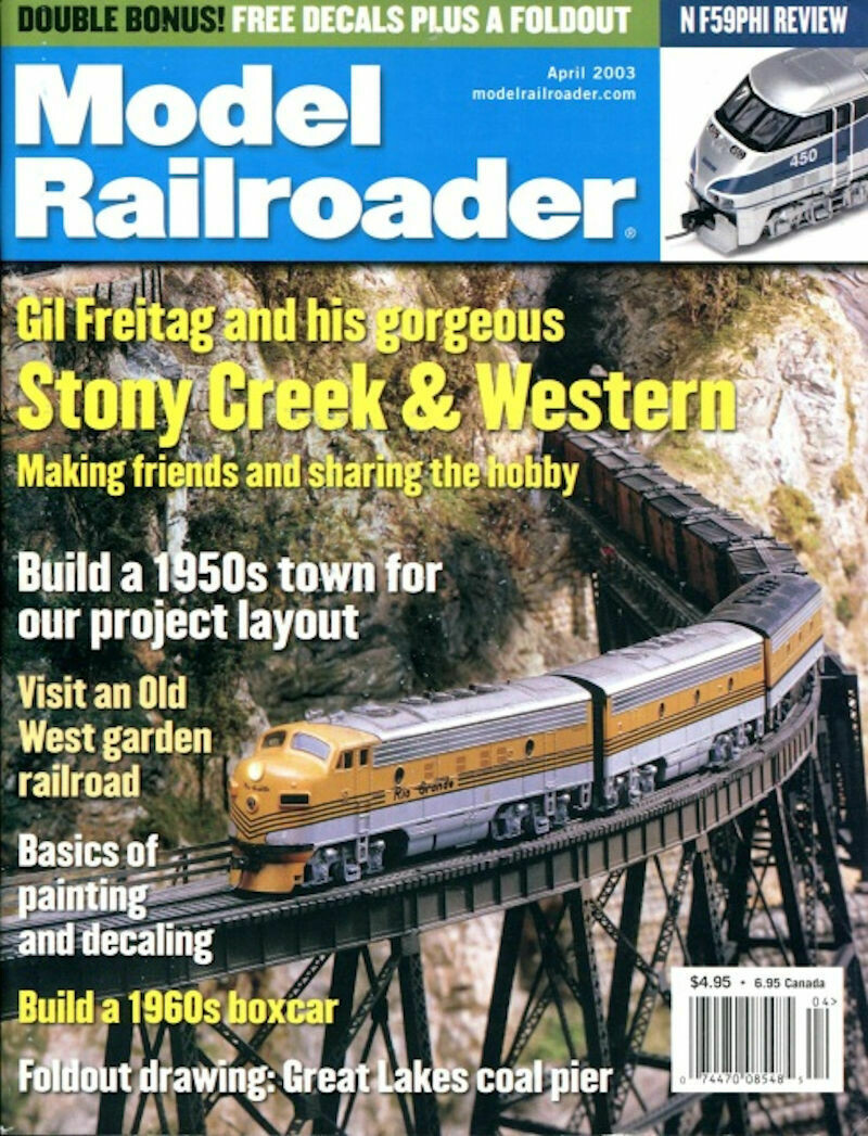 Model Railroader Magazine April 2003