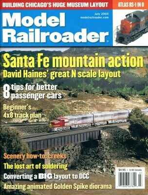 Model Railroader Magazine July 2003