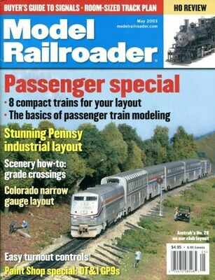 Model Railroader Magazine May 2003