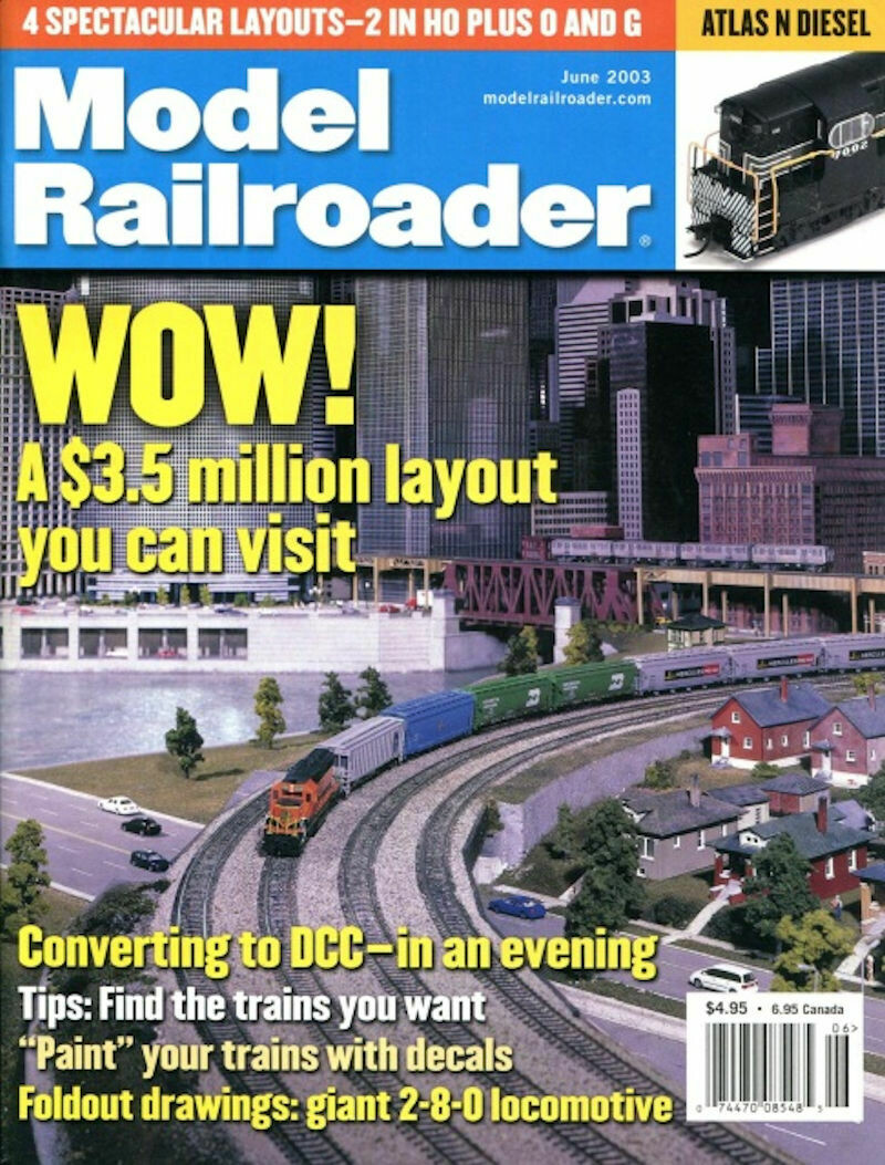 Model Railroader Magazine June 2003