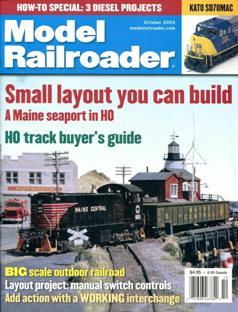 Model Railroader Magazine October 2003 \