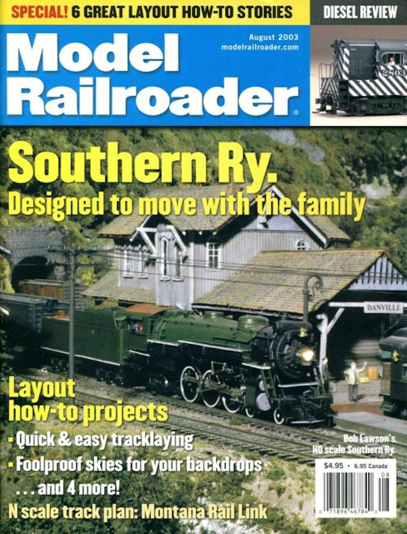 Model Railroader Magazine August 2003