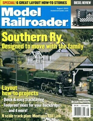 Model Railroader Magazine August 2003