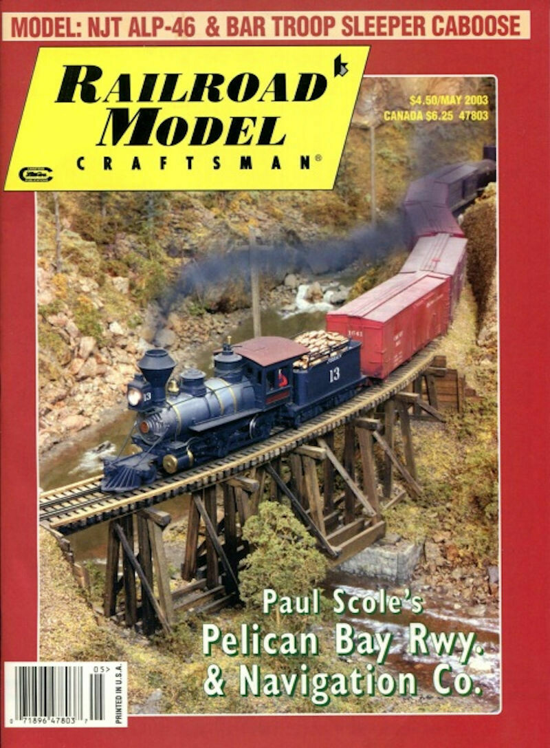 Railroad Model Craftsman May 2003 Magazine Volume 71, Number 12