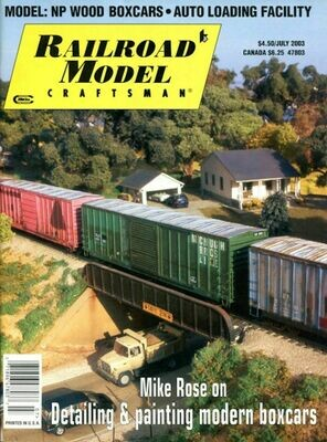 Railroad Model Craftsman July 2003 Magazine Volume 72, Number 2.