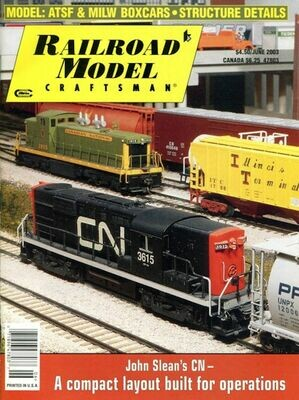 Railroad Model Craftsman June 2003 Magazine Volume 72, Number 1