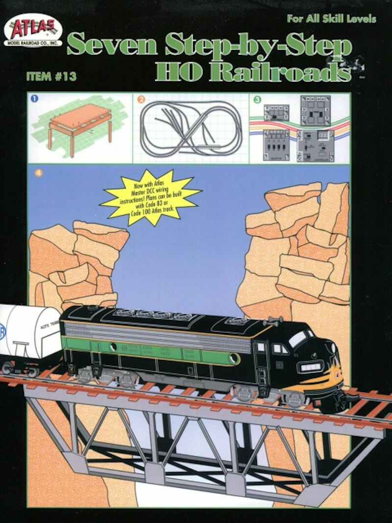 Seven Step-by-Step HO Railroads, For All Skill Levels, Item # 13 Atlas Model Railroad Co.