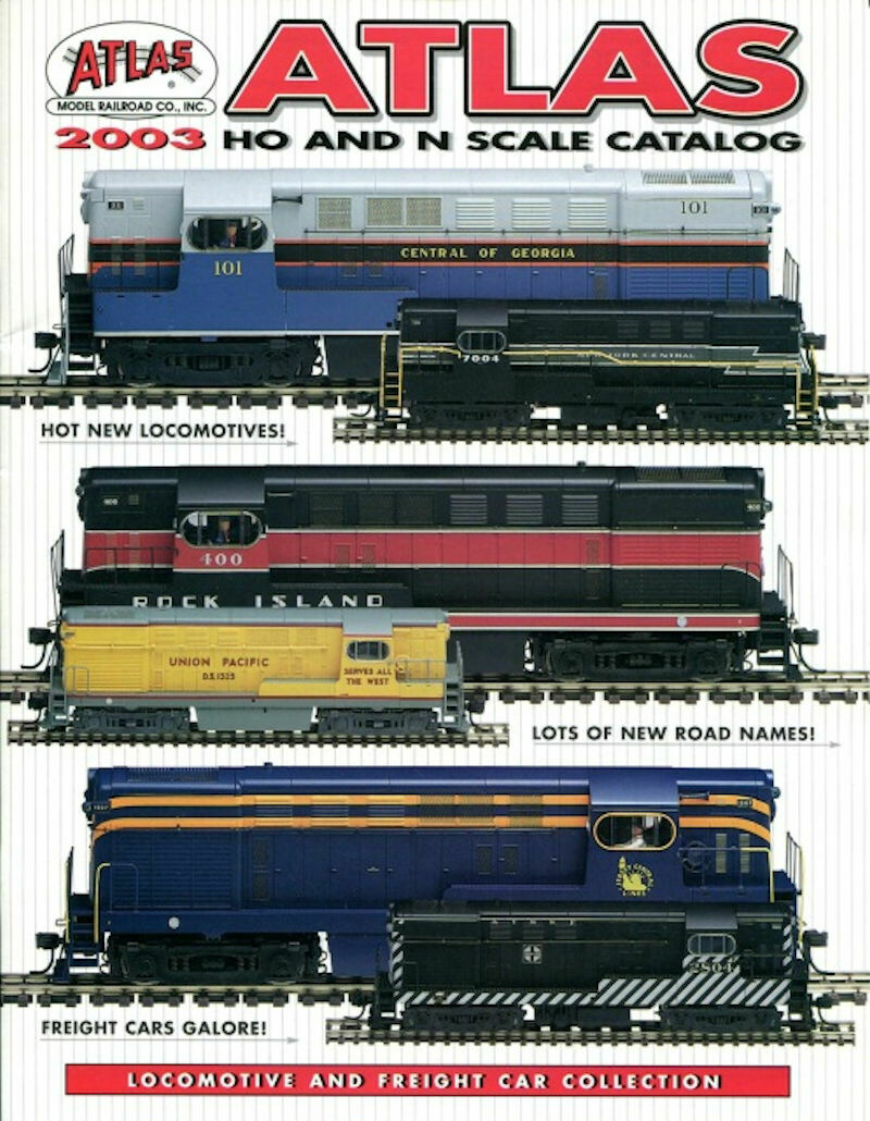 Atlas 2003 HO and N Scale Catalog. Locomotive and Freight Car Collection.