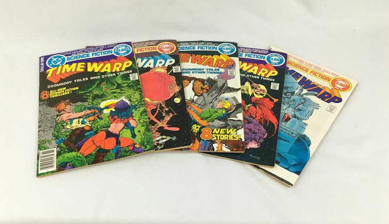 Time Warp Lot - 1979 #1 to #5 Complete Set - Sci Fi - Ditko & Kaluta art DC Comics
