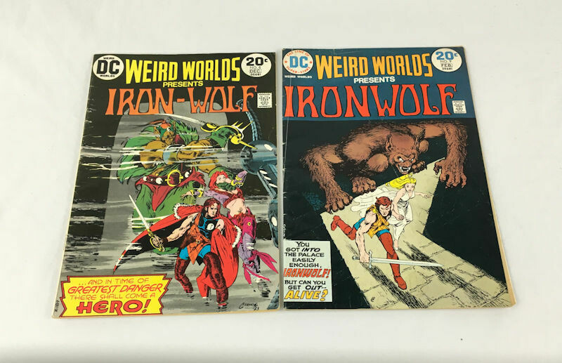 Weird Worlds Iron-Wolf No. 8 & 9 Lot DC Comics 1973-1974