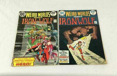 Weird Worlds Iron-Wolf No. 8 & 9 Lot DC Comics 1973-1974