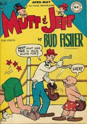 Mutt & Jeff No.33 by Bud Fisher - DC Comics