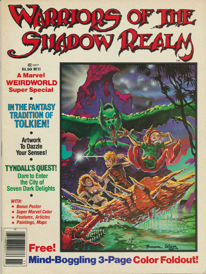Warriors Of The Shadow Realm #11 Marvel Weirdworld Super Special
